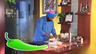Grilled Mushroom And Kiwi Pesto Salad