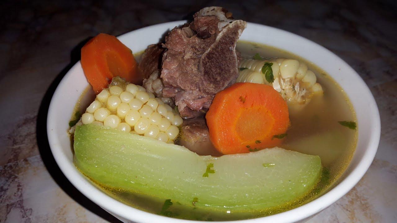 Caldo de costilla de res con verduras youtube - Arroz con verduras y costillas ...