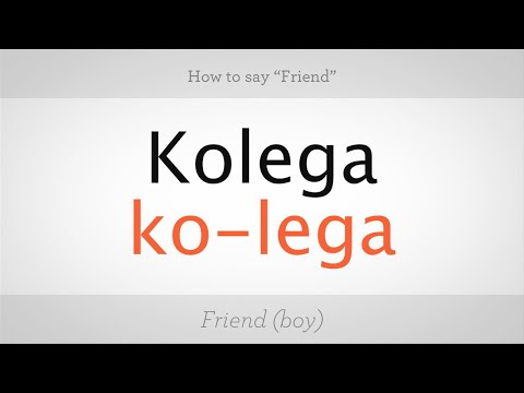 """How to Say """"Friend"""" in Polish 