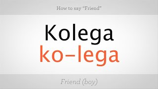 """How to Say """"Friend"""" in Polish   Polish Lessons"""