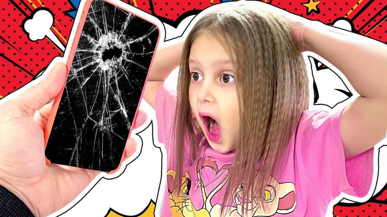 РАЗБИЛИ АЙФОН! Амелька и Мама разбили телефон Папы! Как они теперь будут выкручиваться?