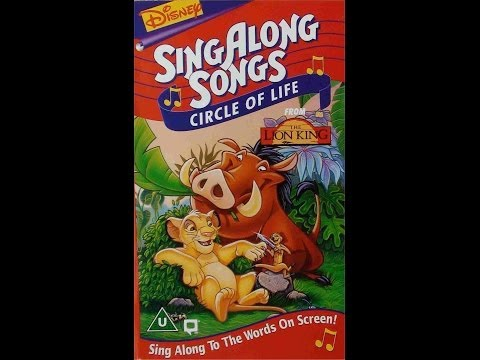 42d5c8972 Digitized closing to Disney s SingAlong Songs  Circle of Life (1995 VHS UK)
