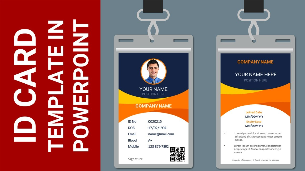 How to make an Employee or Student ID Card in PowerPoint With Regard To Sample Of Id Card Template
