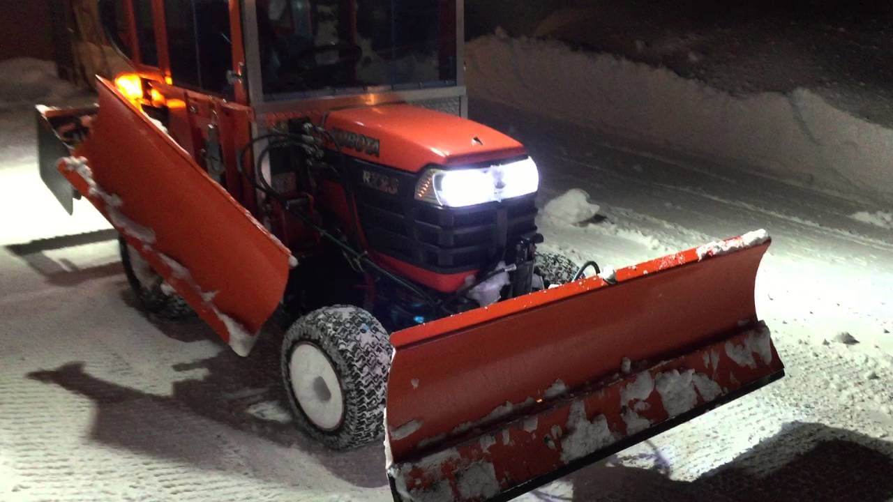 Tractor Snow Wing Blades : Blizzard kubota bx with front blade and wing plow