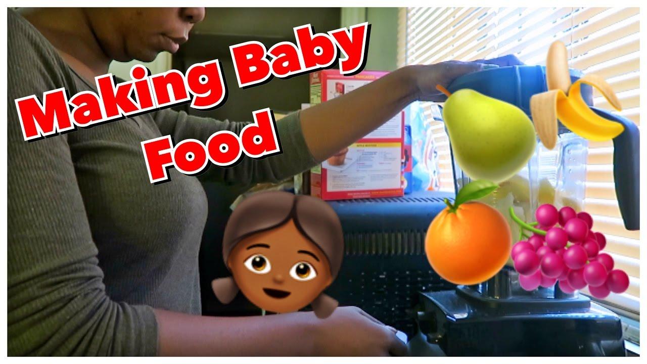 MAKING BABY FOOD   VITAMIX 5300 STYLE - YouTube