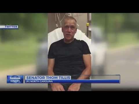 NC senator Thom Tillis tweets he's doing well after collapsing during race