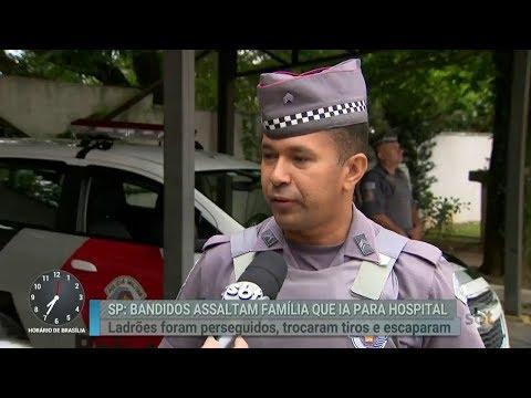 Casal é vítima de assalto quando estava a caminho do hospital | Primeiro Impacto (15/02/18)