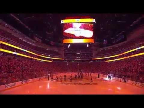 Edmonton Oiler Fans finish singing US anthem after mic stopped working