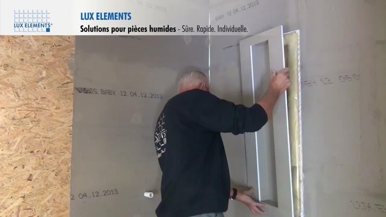 LUX ELEMENTS Montage  Solutions pour pices humides  Niches lAmrique du Nord  YouTube