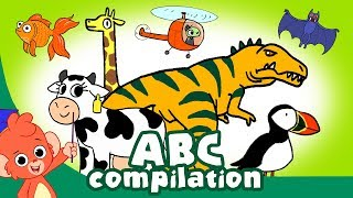 ABC's Learning for Kids | Animal ABC | Dinosaurs ABC | Alphabet cartoon compilation