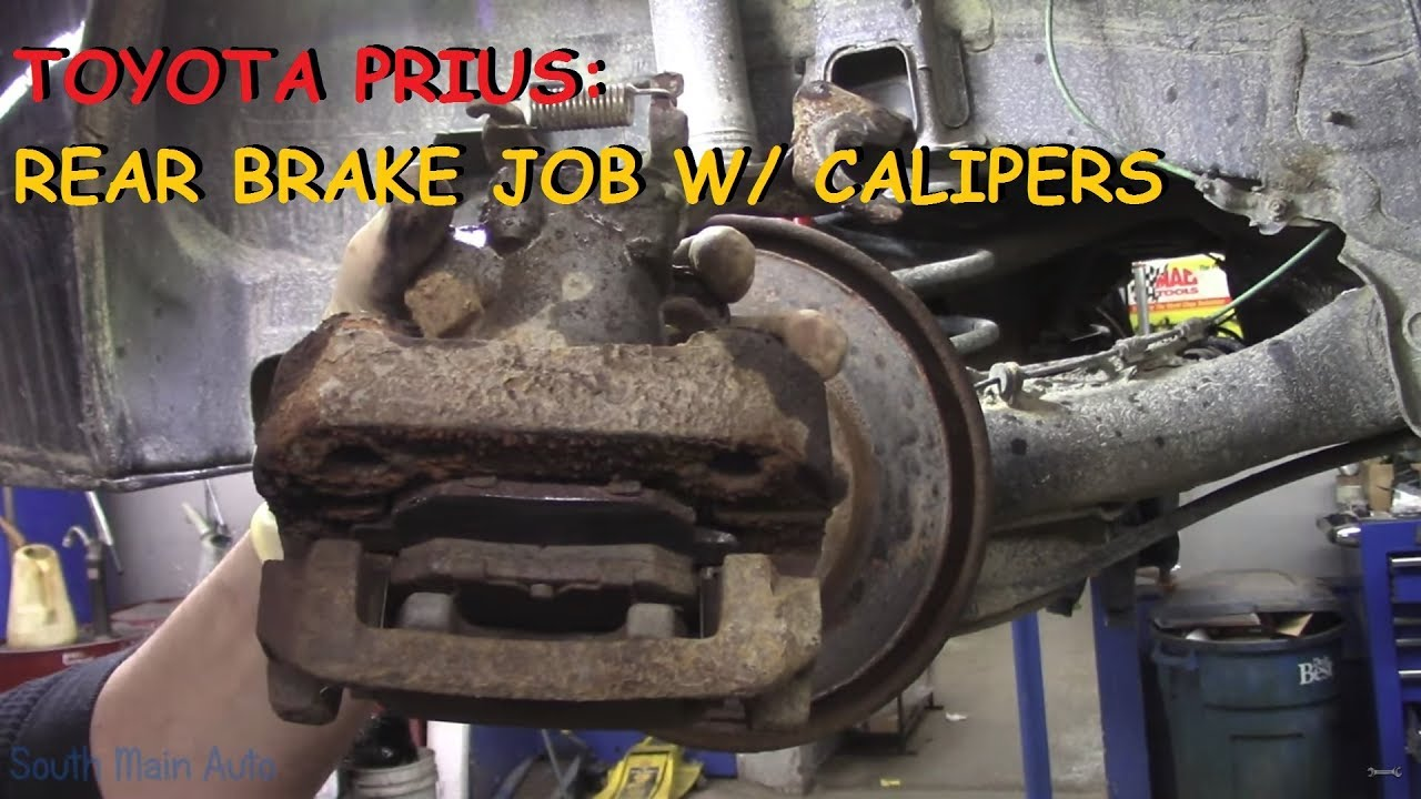hight resolution of toyota prius rear brake pads rotors calipers