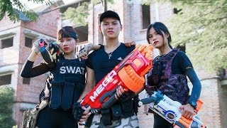 LTT Game Nerf War : Winter SEAL X Nerf Guns Fight Criminal Group Bandits Items