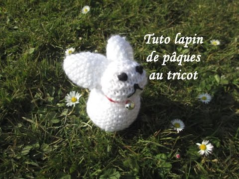 TUTO LAPIN AU TRICOT A PARTIR D UN CARRE FACILE rabbit tutorial easy to knit f2a27d1d36a