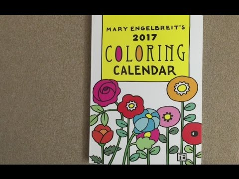 - Mary Engelbreit's 2017 Coloring Weekly Planner Calendar Flip Through -  YouTube