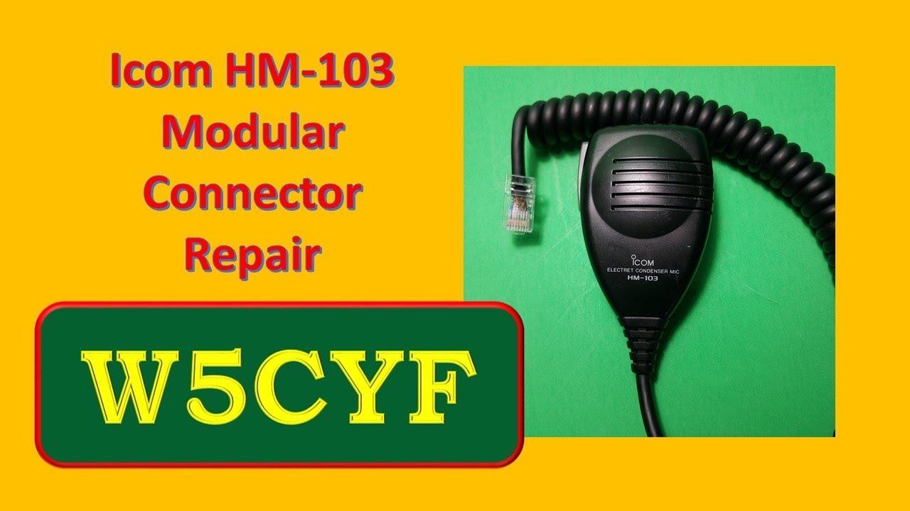 icom hm 103 microphone modular connector (rj45) repair
