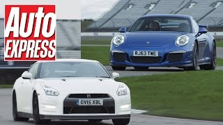 Porsche 911 GT3 vs Nissan GT-R track battle