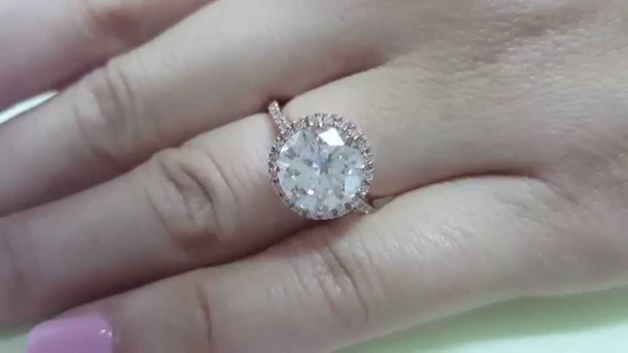 3 carat g h vs1 natural diamond engagement bride halo ring 14k