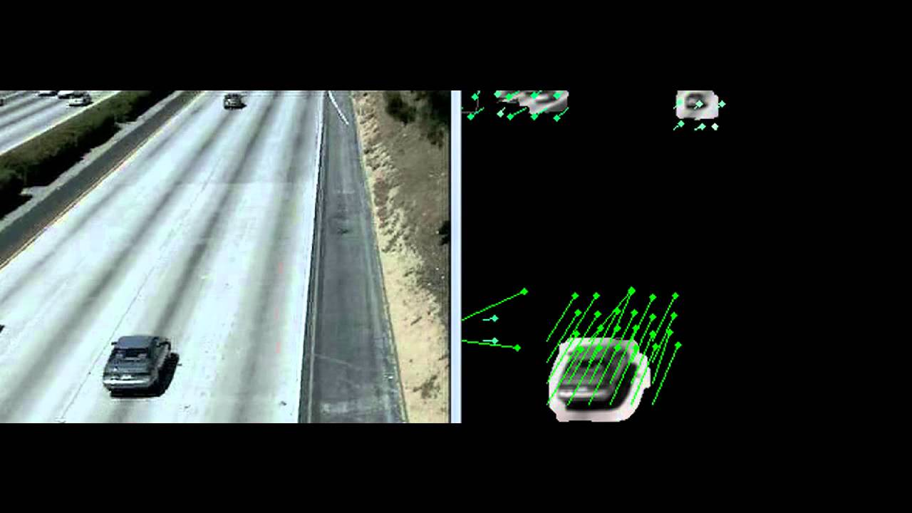 Highway Suveilance Background Subtraction and Optical Flow OpenCV 3 0