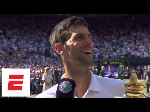 [FULL] Novak Djokovic Wimbledon 2018 final post-match interview after beating Kevin Anderson | ESPN
