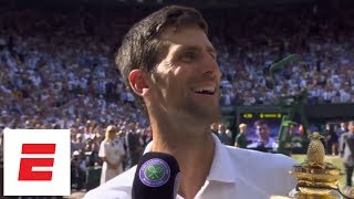 [FULL] Novak Djokovic Wimbledon 2018 final post-match interview after beating Kevin Anderson | ESPN