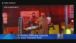 East Harlem Fire Leaves 4 Police Officers Injured