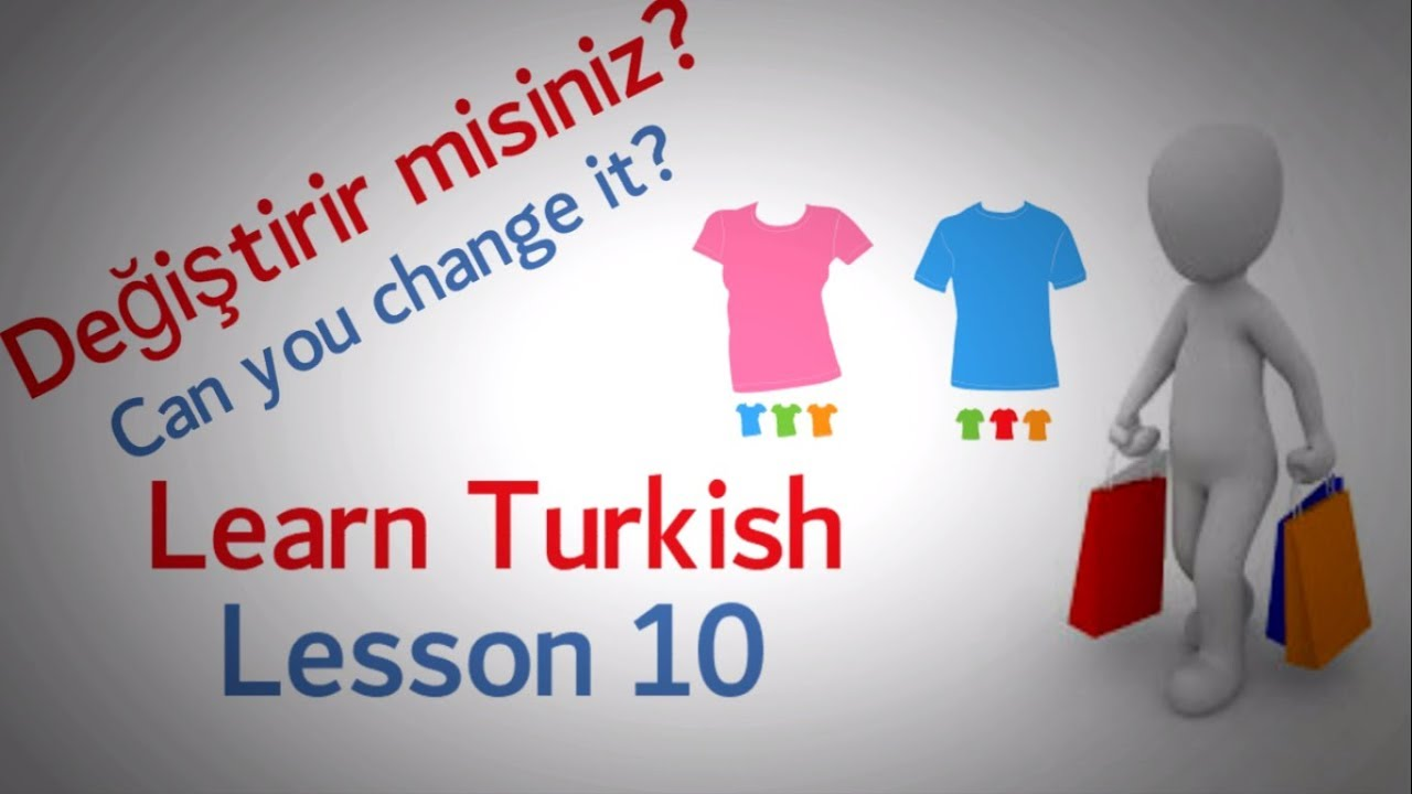 Learn Turkish Lesson 10 - Buying Things Phrases (Part 2)