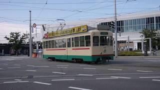 富山地方鉄道市内線 - 富山駅 日曜午後(24倍速)