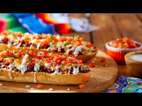 Mexican Open Faced Sandwiches