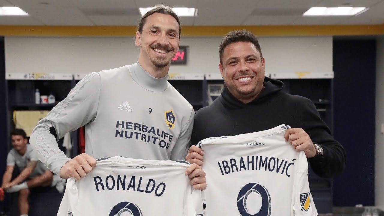 VIDEO: 'Rô béo' đến thăm Ibrahimovic và CLB LA Galaxy
