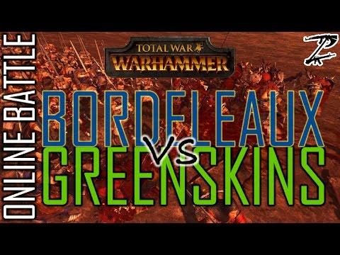 BORDELEAUX vs GREENSKINS! 1v1 Online Battle Total War: Warhammer |