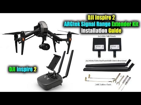 DJI Inspire 2 ARGtek Signal Range Extender Kit Installation Guide