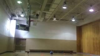 Crazy backwards half court