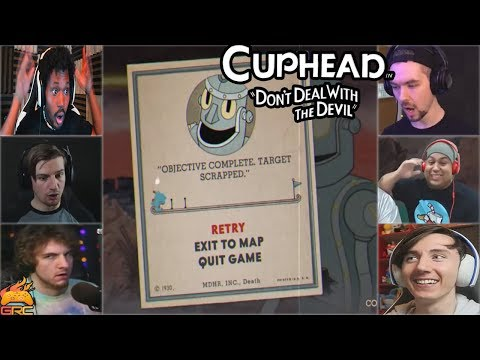 Gamers Reactions to Dr. Kahl's Robot (BOSS) No Progress Made | Cuphead