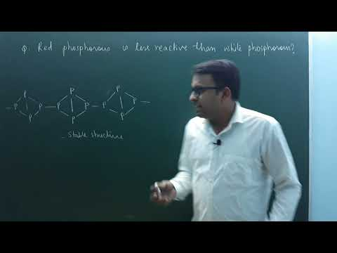 Why red phosphorus is less reactive than white phosphorus?(P block | class 12)