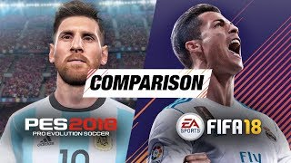 Fifa 18 vs pes 2018: ultimate comparison (graphics, gameplay & animations)