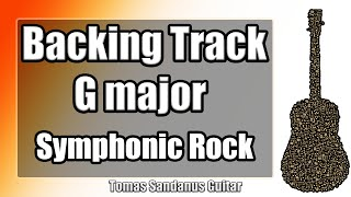 G major Backing Track - Britpop Symphonic Rock Guitar Jam Backtrack