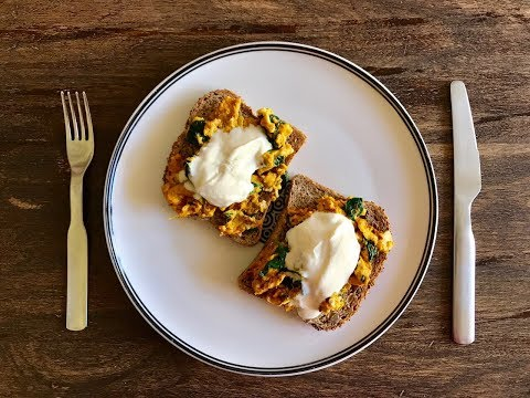 Coconut and Turmeric Scrambled Eggs with Wholegrain Toast
