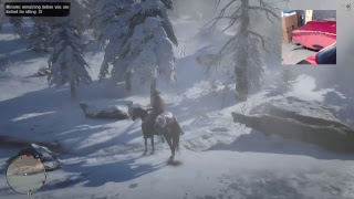 (Red Dead Online) Hunting in the snow W/superman & dragonslayer enjoy
