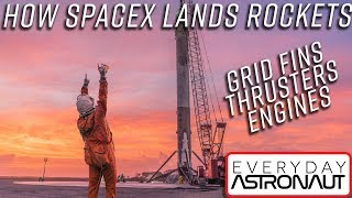 How SpaceX lands the Falcon 9: Grid Fins, Thrusters and Engines!