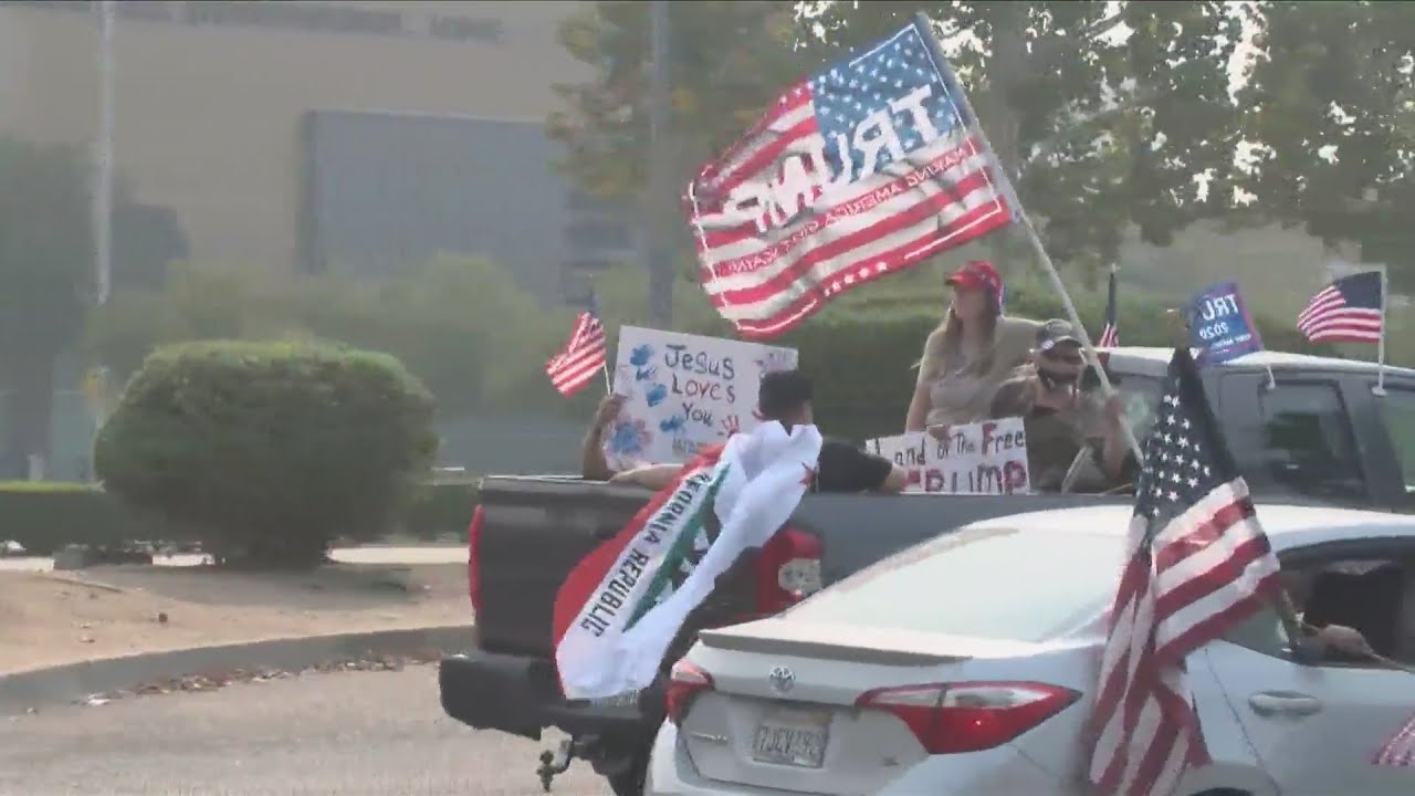 KSEE 24 News Hundreds of drivers cruise Fresno in support of Trump