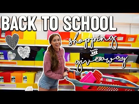 BACK TO SCHOOL SUPPLIES SHOPPING VLOG + GIVEAWAY 2018!