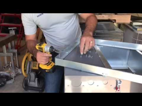 Plenum Adapter. How to prepare the plenum adapter for smaller or bigger size air handler