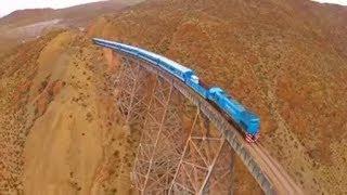 देखिये कैसी चलती है यहां से ट्रेन। Top 5 Most Dangerous Railway Tracks in the World.