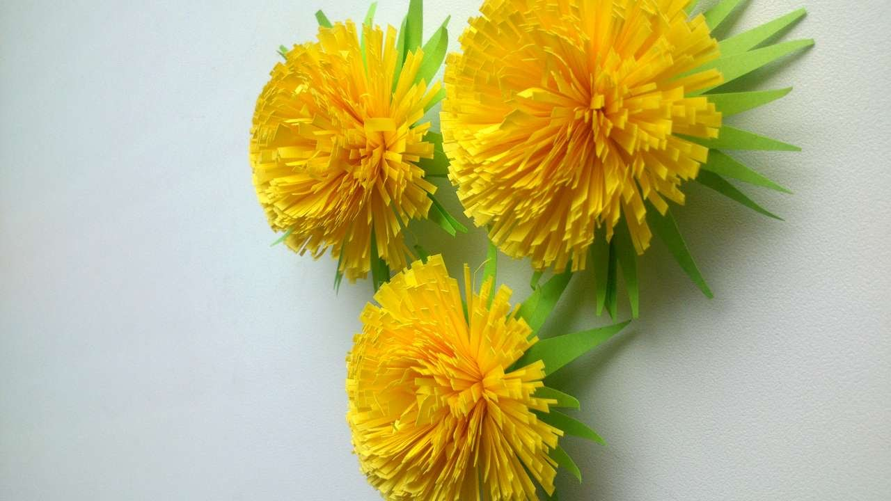 How to makes a beautiful quilling dandelion diy crafts for Dandelion flowers and gifts
