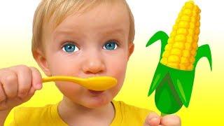 Sí Sí Verduras Canción | Canción Infantil | Canciones Infantiles con Katya y Dima