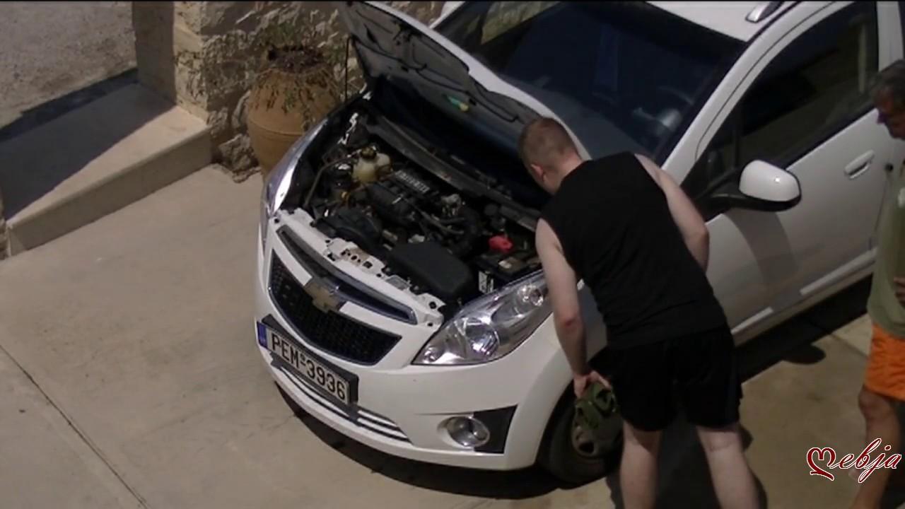 Crete - Snake in car engine block - YouTube