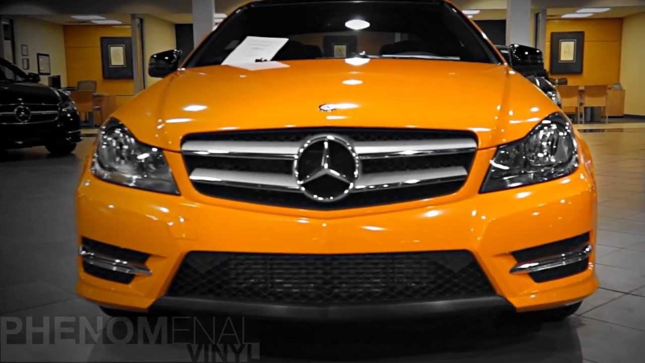 Mercedes Benz Of Massapequa Orange Vinyl Wrapped C300