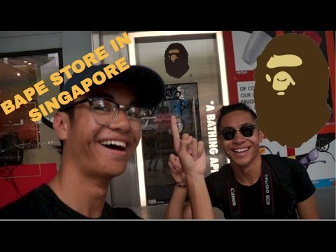 54dfb486 BAPE STORE IN SINGAPORE!!! - YouTube