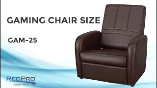 RecPro Charles RV Gaming Chair and Ottoman with Storage GAM-25