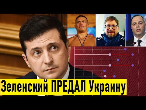 ⚡ Зеленский РАЗОЧАРОВАЛ украинцев: Шарий,Усик и Портнов набирают политический вес в Украине